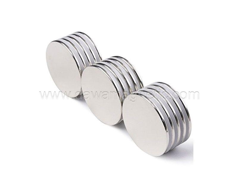 NdFeb N35 N42 N52 nickel coating strong permanent neodymium disc magnets