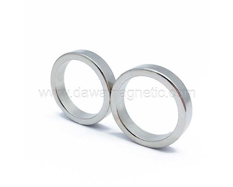 China Supplier N52 Ni Coating Permanent Neodymium Magnet Ring